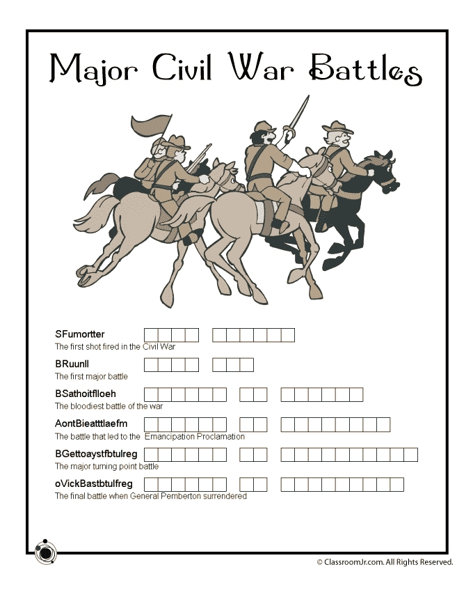 america coloring pages - civil war for kids