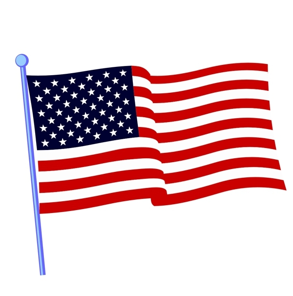 american flag coloring page - printable american flag clipart image click for an alt