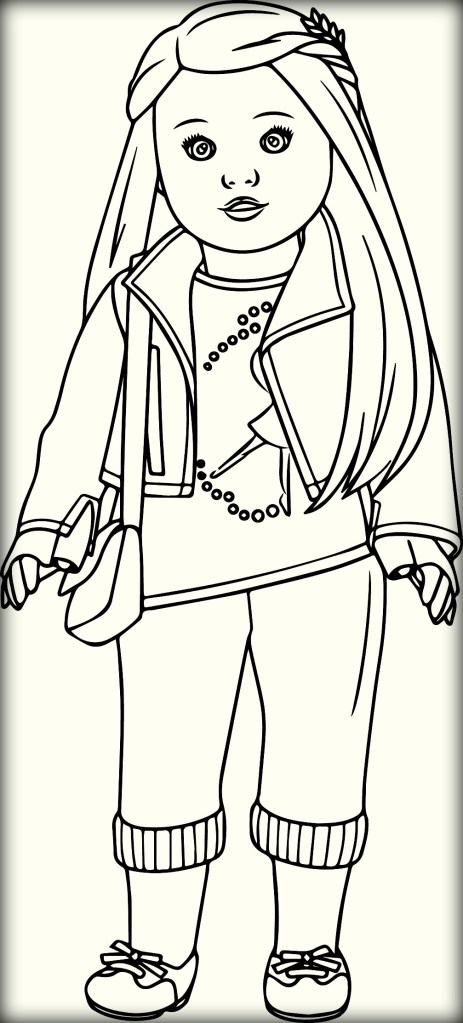 american girl coloring pages - american girl doll coloring pages