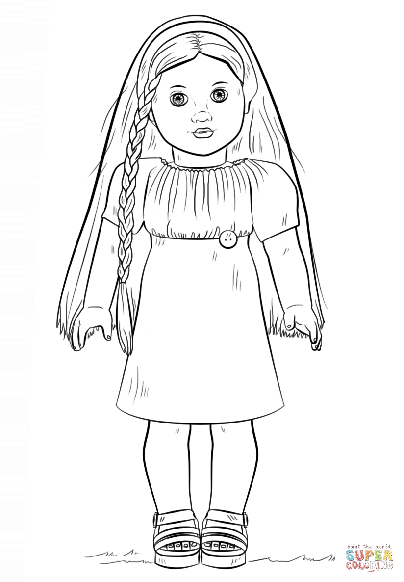 american girl coloring pages - american girl doll julie