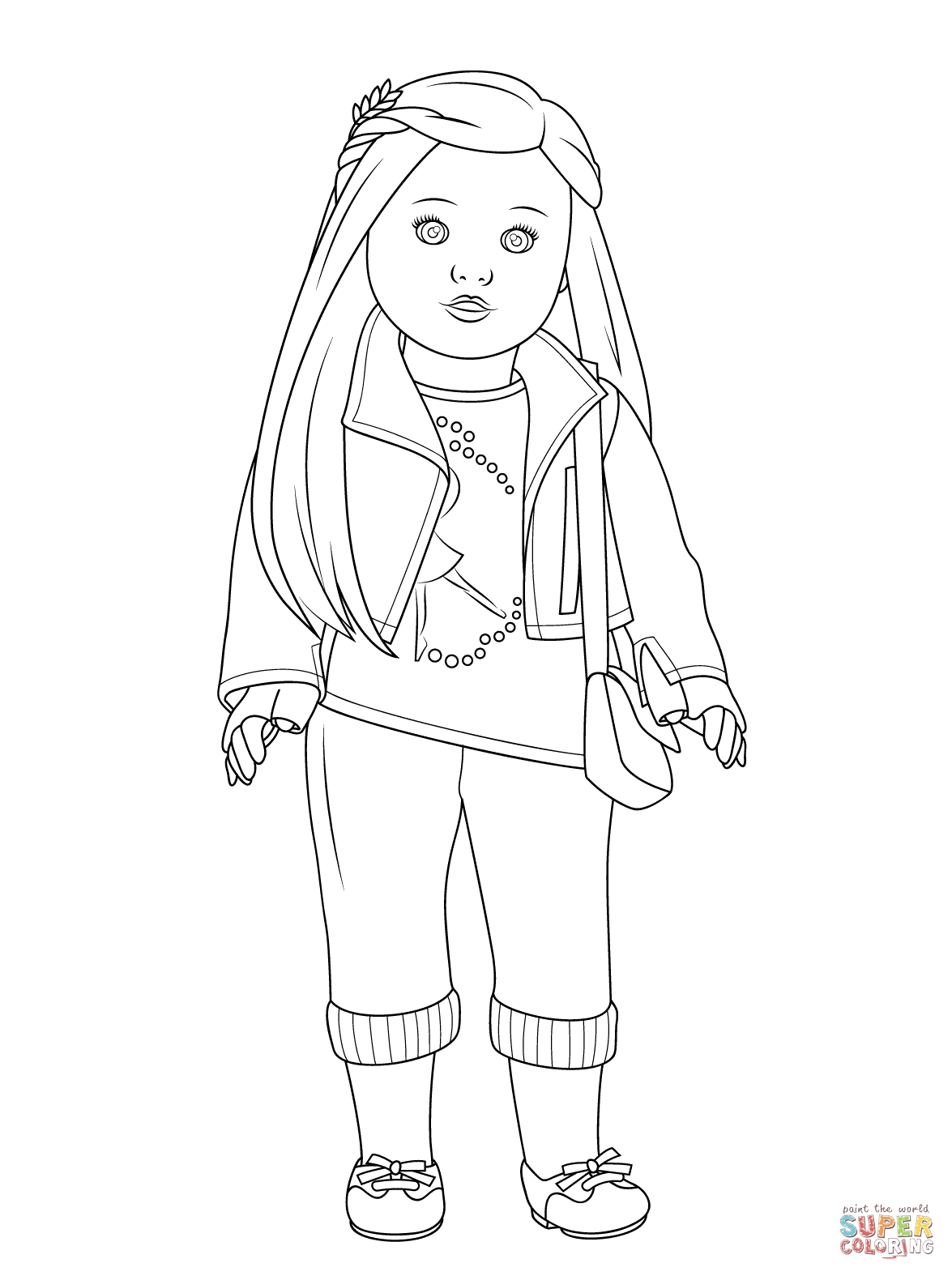 american girl coloring pages - american girl isabelle doll