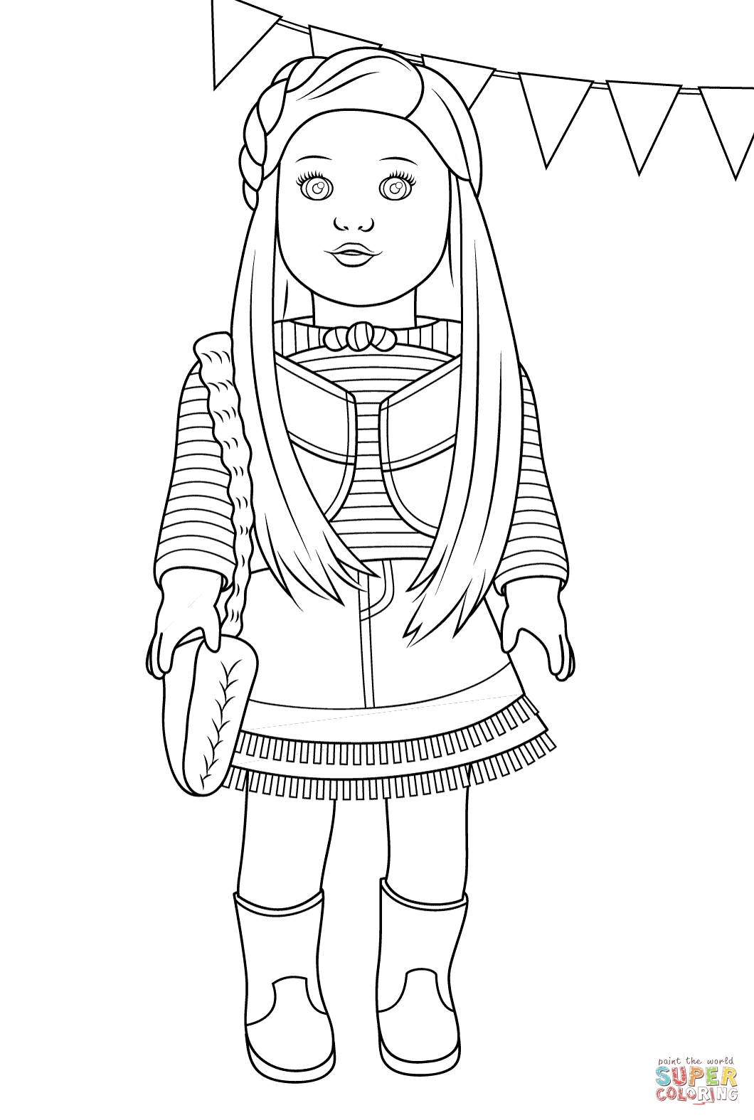 american girl coloring pages - american girl mckenna