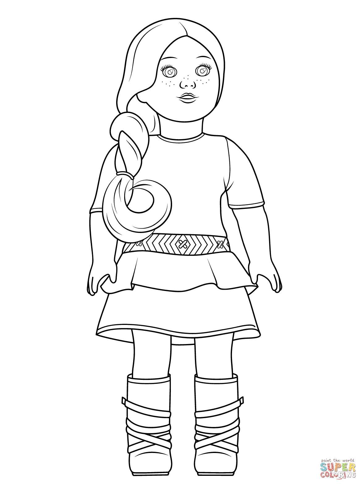 american girl coloring pages - american girl saige
