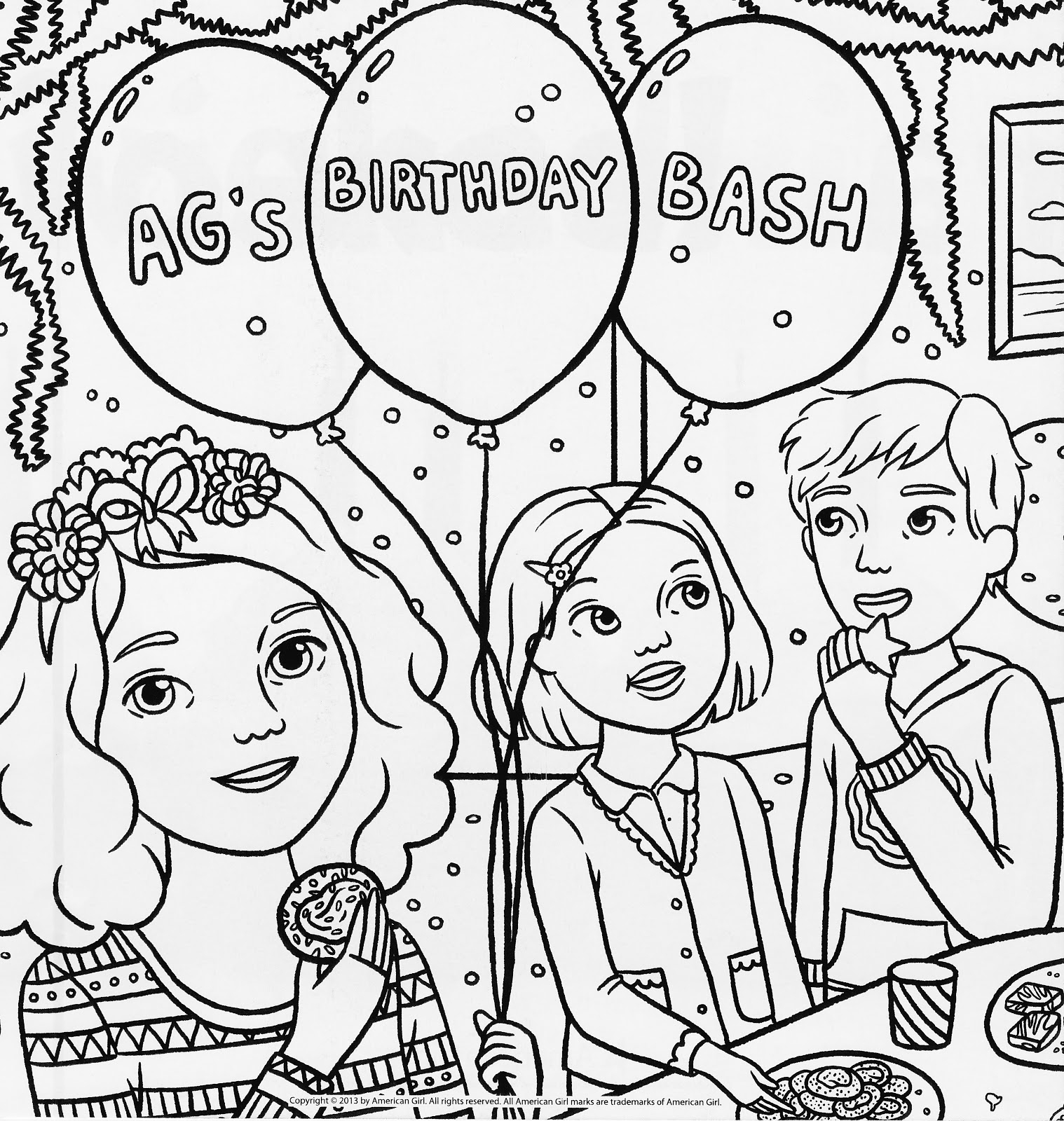 american girl coloring pages - american girl magazine special birthday