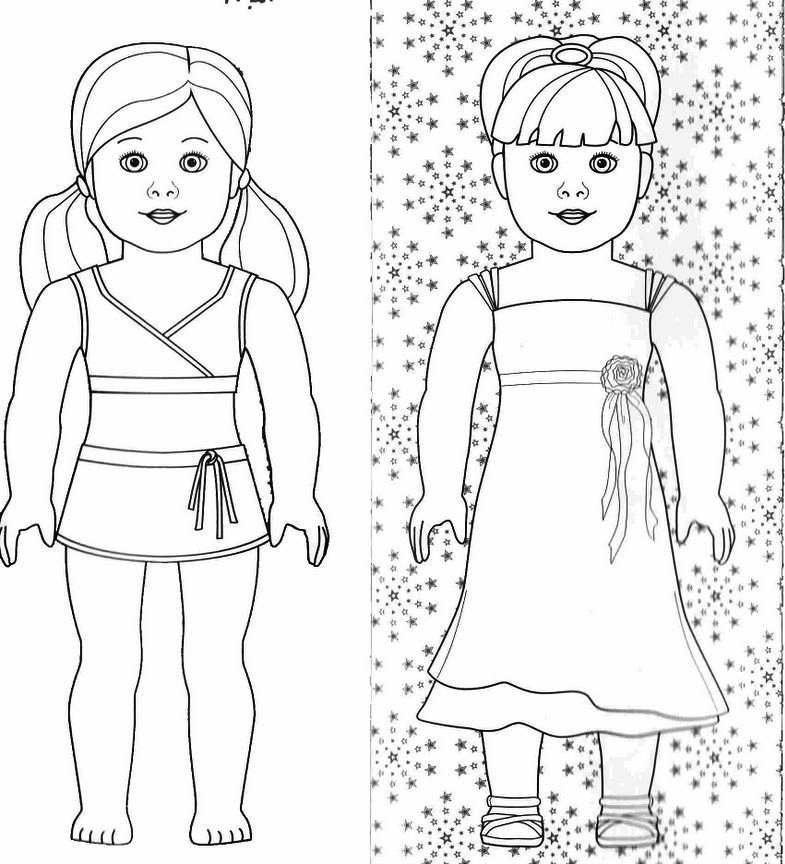 american girl coloring pages - coloring pages american girl