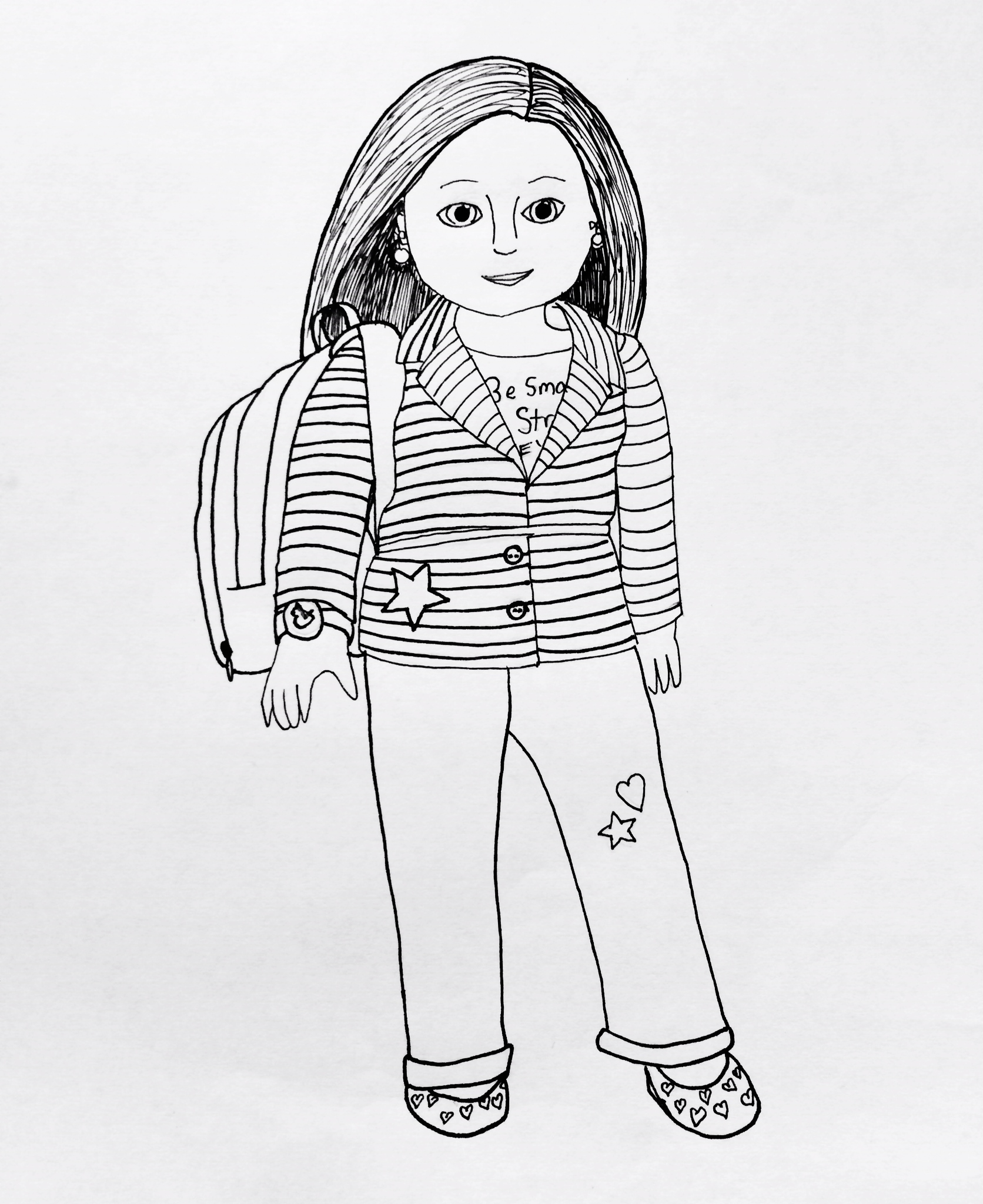 american girl coloring pages - p=1254