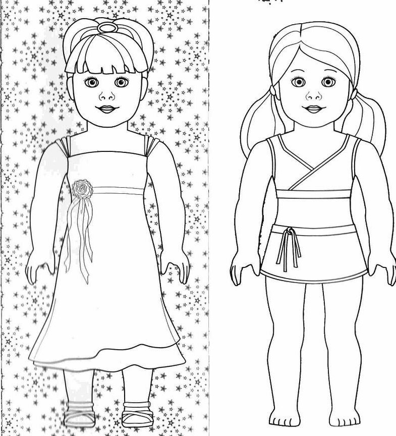 American Girl Doll Coloring Pages - American Girl Doll Coloring Pages 25 Image Collections