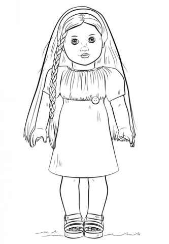 american girl doll coloring pages - free coloring media