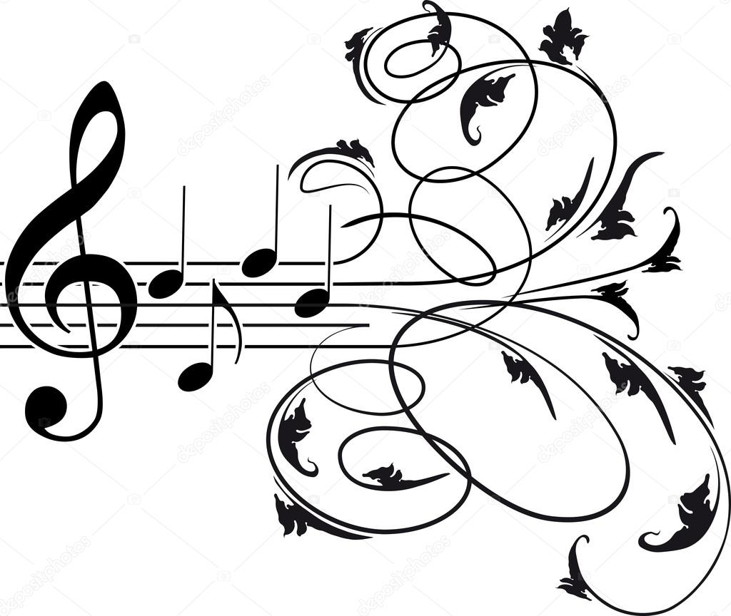 anchor coloring page - stock illustration treble clef and musical notes
