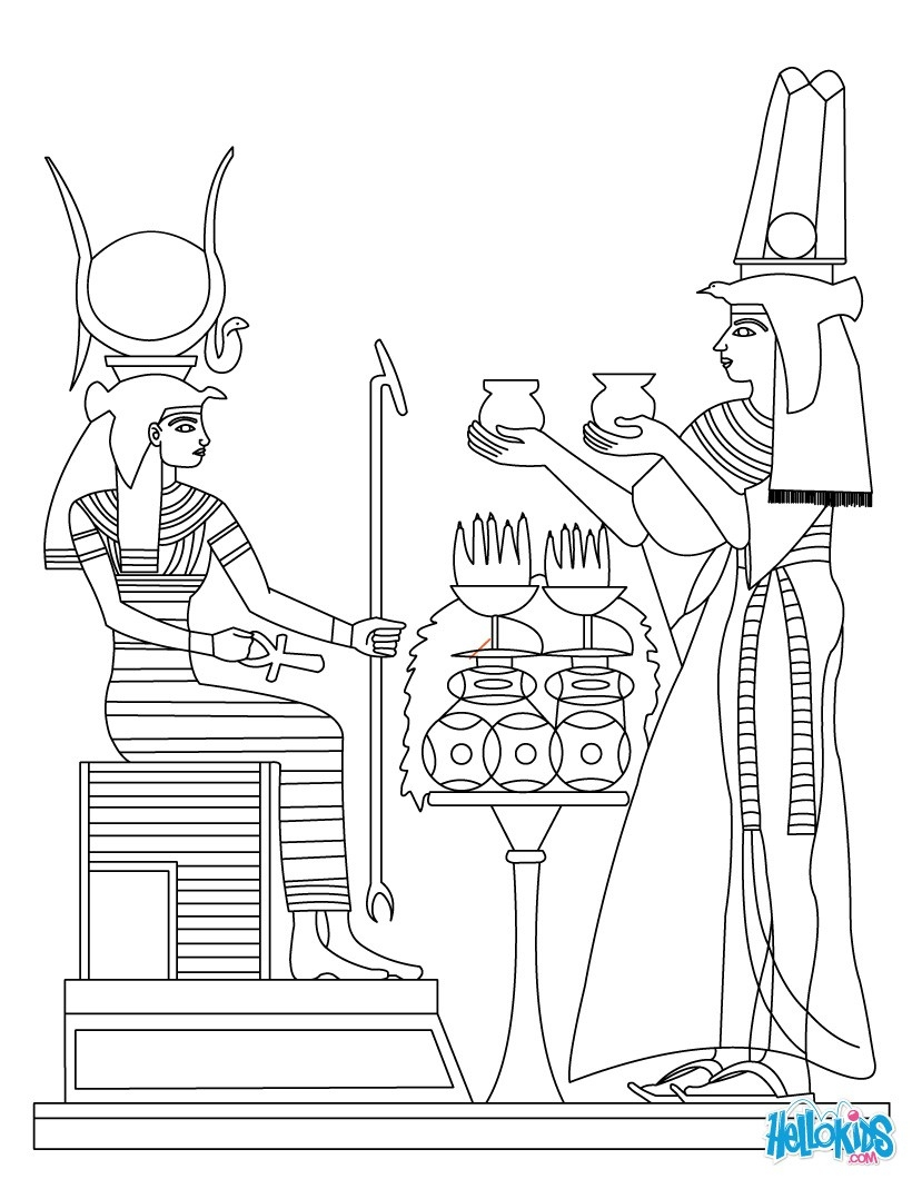 Ancient Egypt Coloring Pages - Ancient Egypt Art Coloring Pages Hellokids