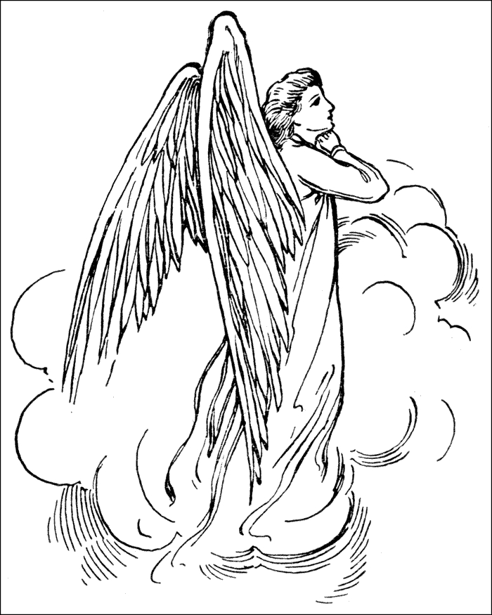 angel coloring pages for adults - angel coloring pages for adults