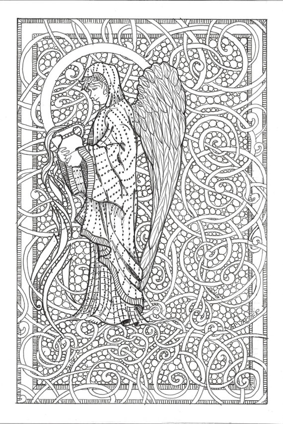angel coloring pages for adults - angel coloring sheet adult