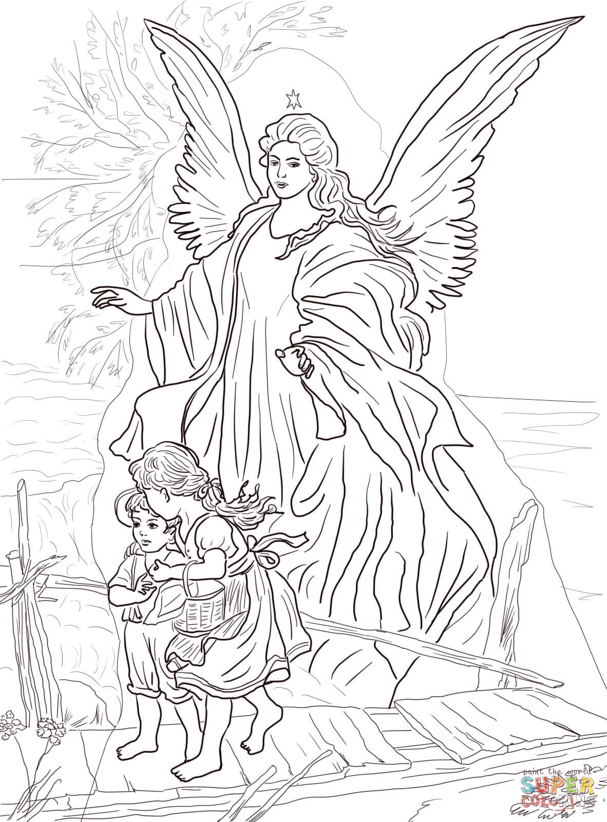23 Angel Coloring Pages for Adults Collections | FREE ...