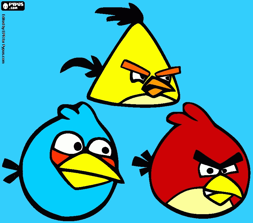 angry birds coloring pages - coloring page my angry birds drawing