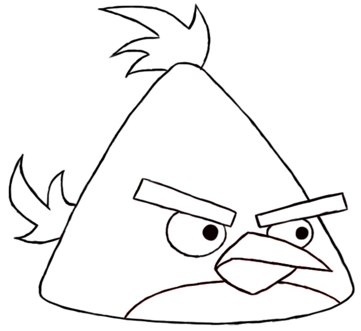 Angry Birds Coloring Pages - Simple Angry Birds Coloring Pages Coloringsuite
