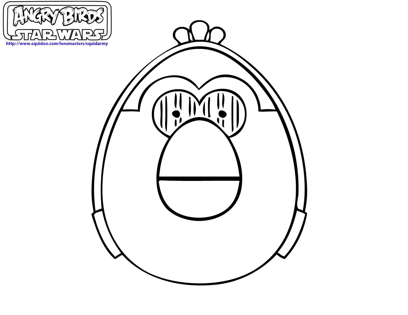 angry birds star wars coloring pages - angry birds coloring pages ii