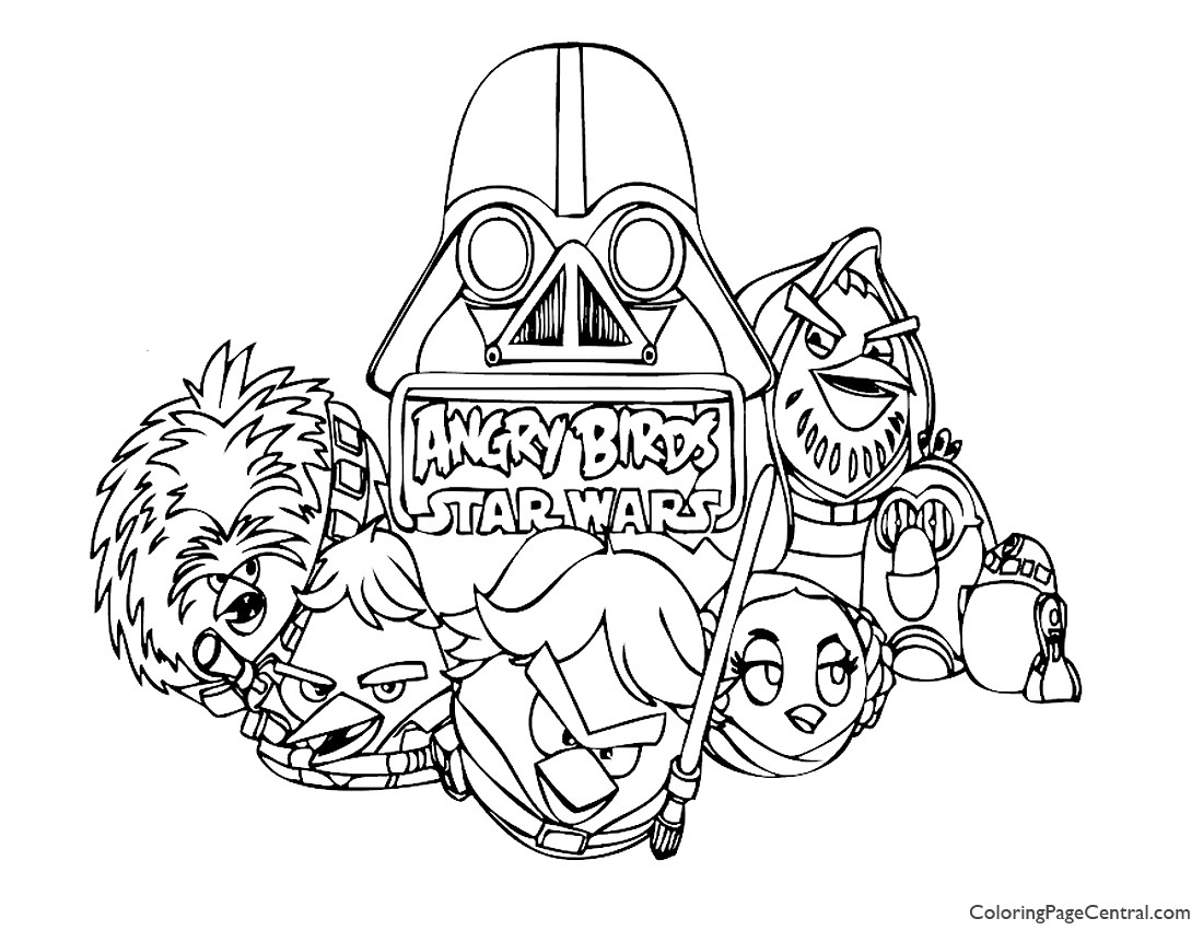 angry birds star wars coloring pages - angry birds star wars 01 coloring page