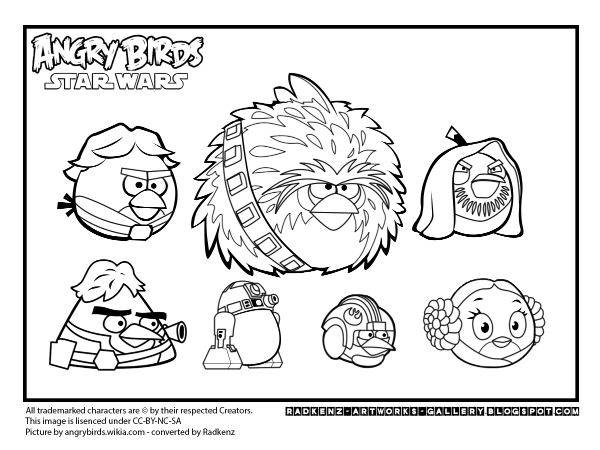 angry birds star wars coloring pages - angry birds star wars coloring page