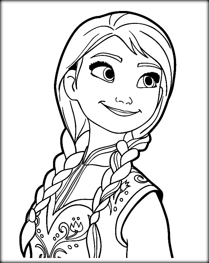 anna coloring pages - frozen coloring pages