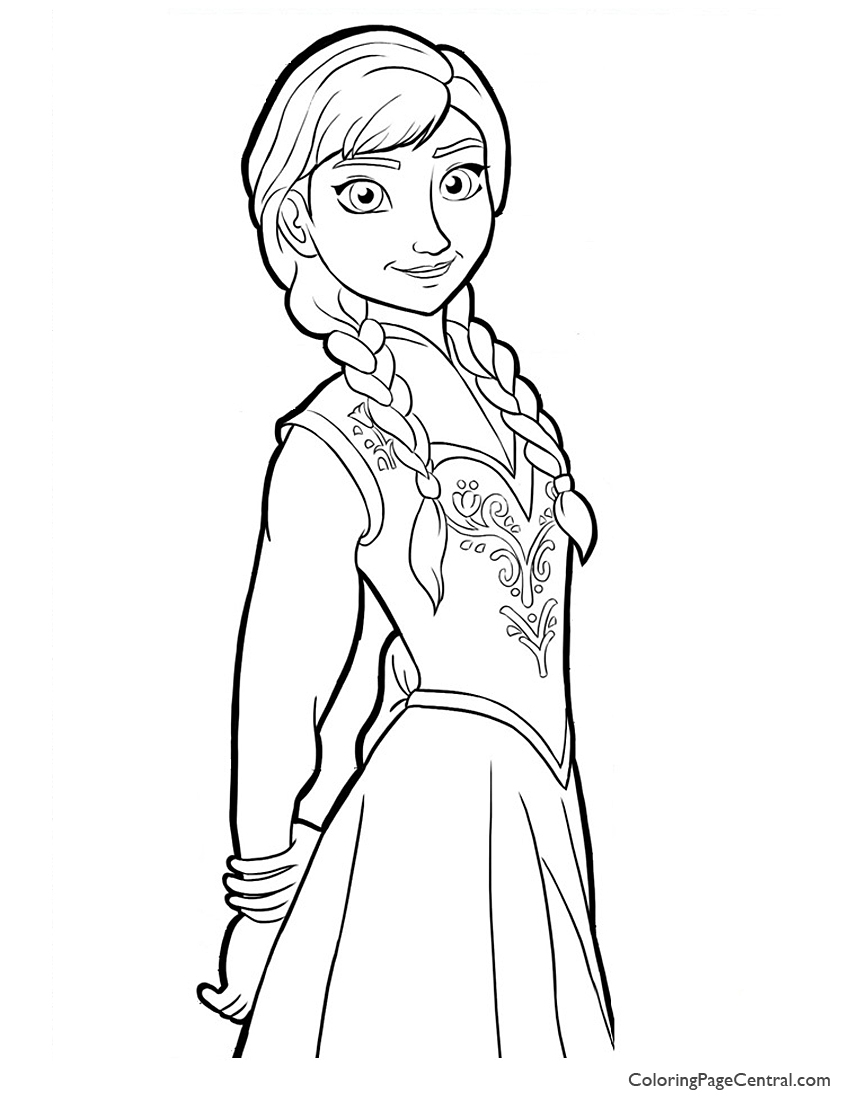 Anna Coloring Pages - Frozen Anna Face Coloring Pages