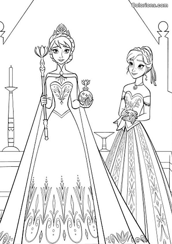 anna frozen coloring pages - coloriage reine des neiges