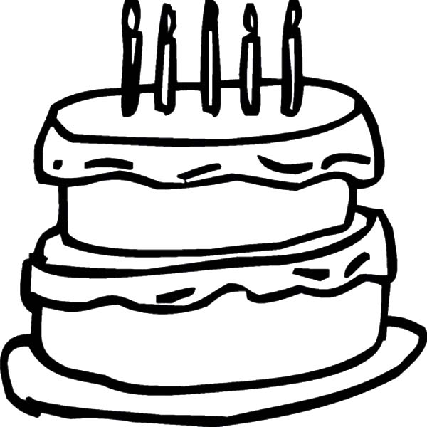 ant coloring page - birthday cake outline colouring page