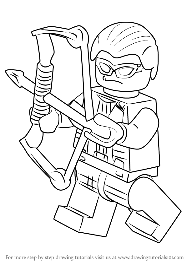 ant coloring page - how to draw lego hawkeye