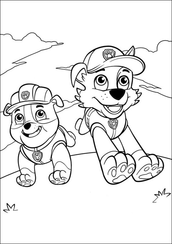 ant coloring page - paw patrol 23