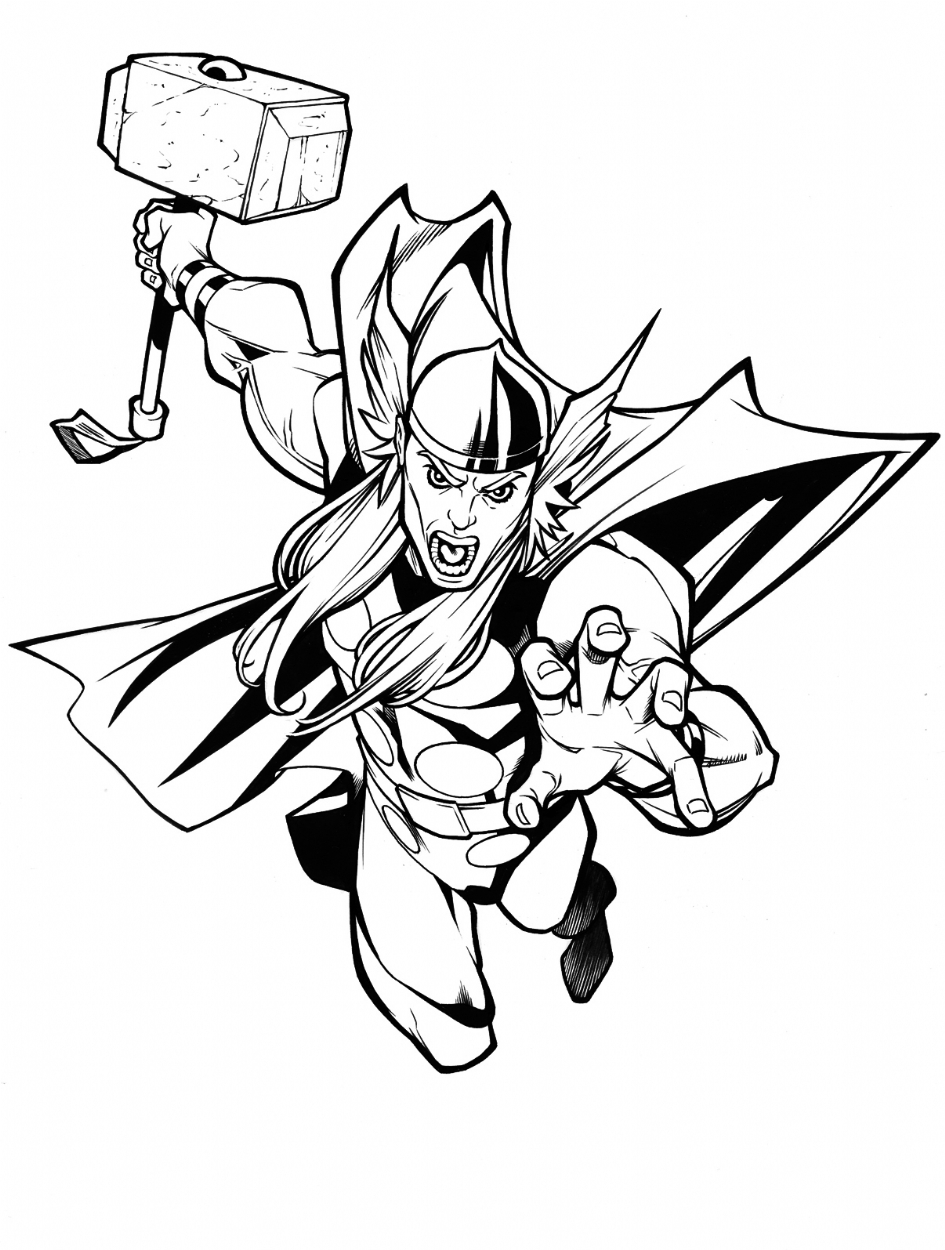 Ant Man Coloring Pages - Thor by Carlos Gomez and Ferran Delgado In Ferran