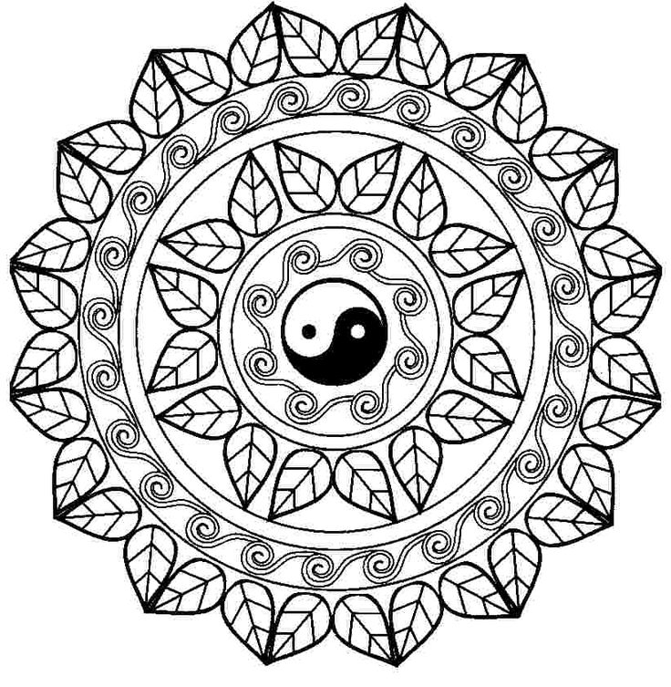 anxiety coloring pages - mandalas