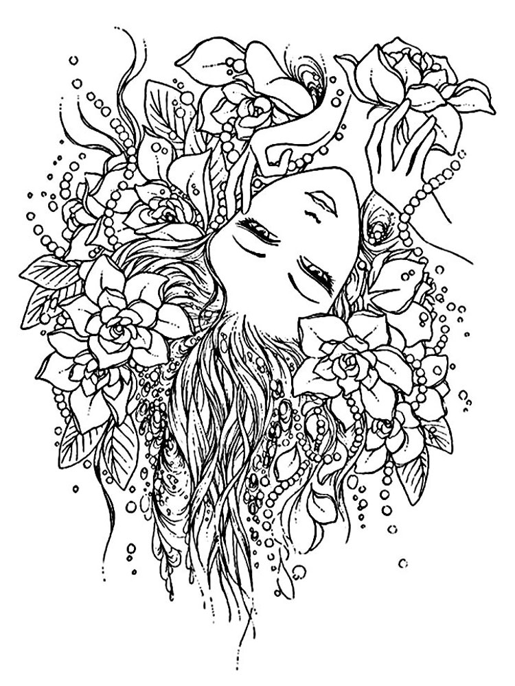 anxiety coloring pages - anti stress coloring pages