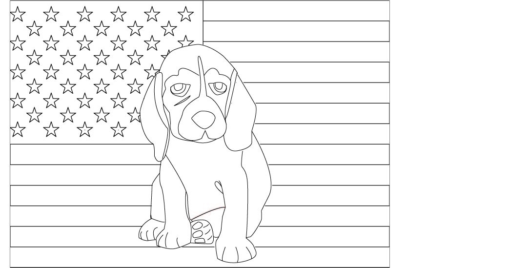 anxiety coloring pages - beagle