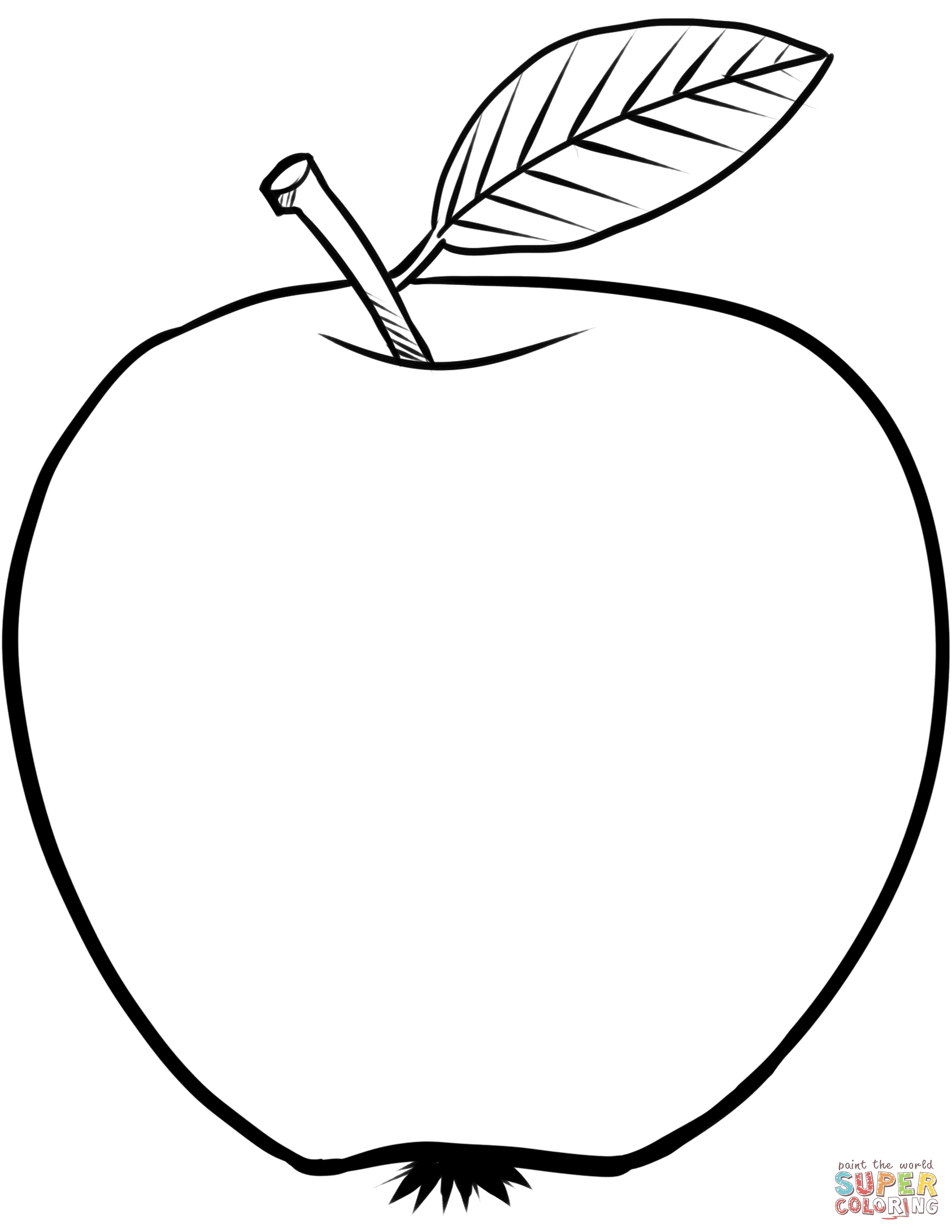 apple coloring pages - apple 2