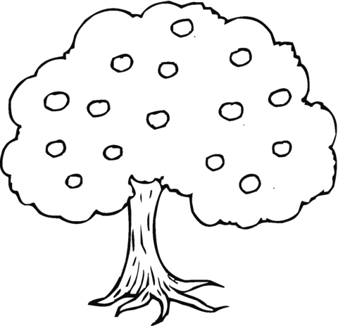 apple tree coloring page - apple tree