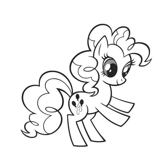 applejack coloring pages - coloriage my little pony pinkie pie