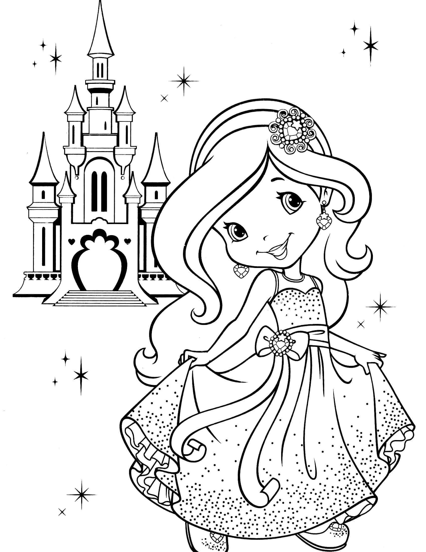 april coloring pages - strawberry shortcake coloring page 9