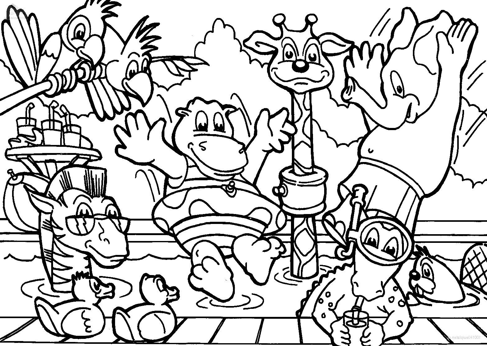 April Coloring Pages - Tag Zoo Animal Coloring Pages Printable Coloring Page Kids