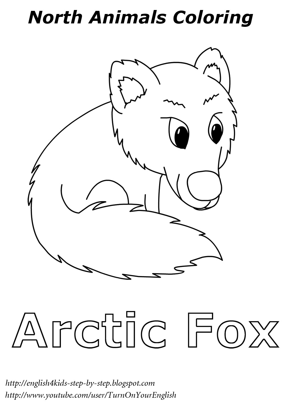 arctic animals coloring pages - arctic animals song for children