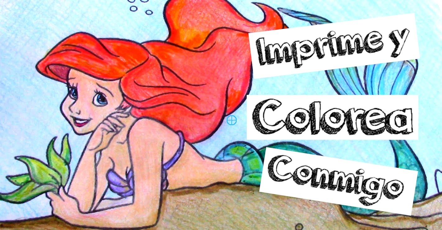ariel coloring pages - watch v=APDKPqCPgs0