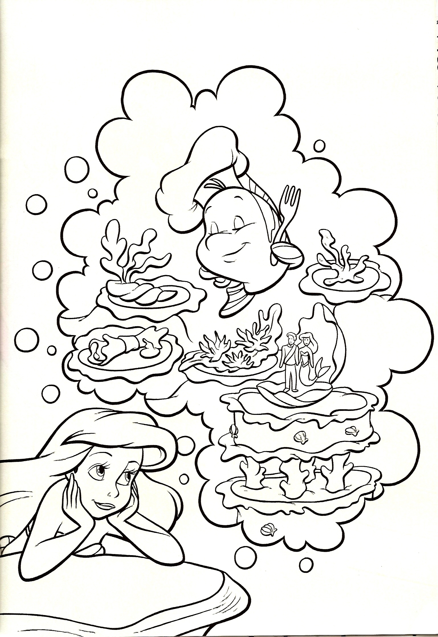 ariel coloring pages -