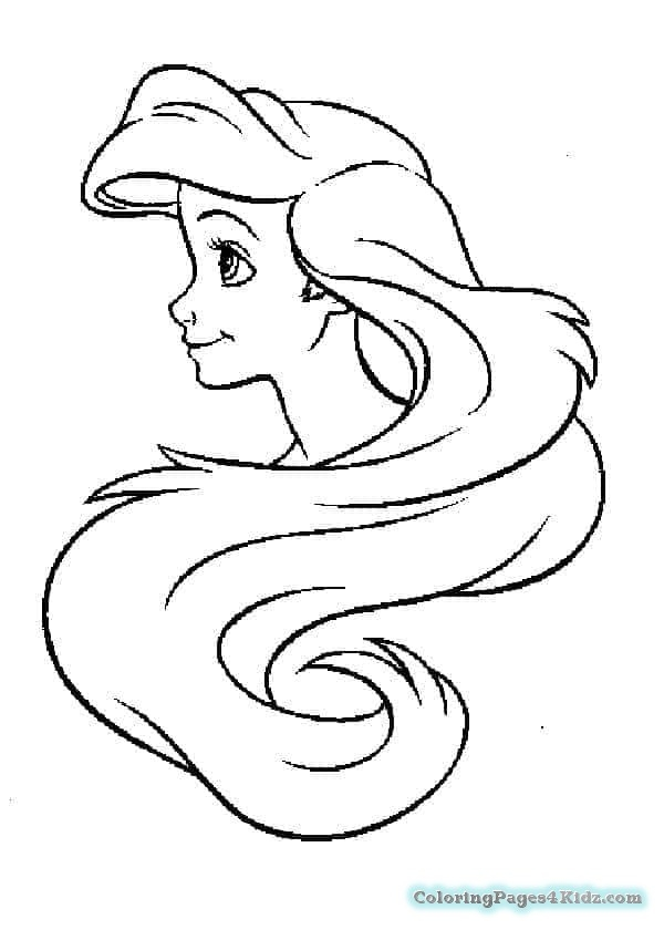 ariel coloring pages free - ariel coloring page 1021
