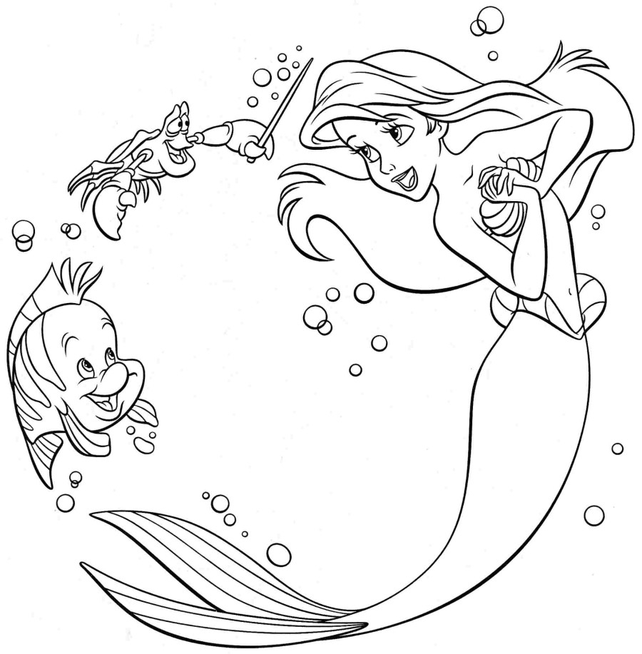 ariel coloring pages free - ariel coloring pages