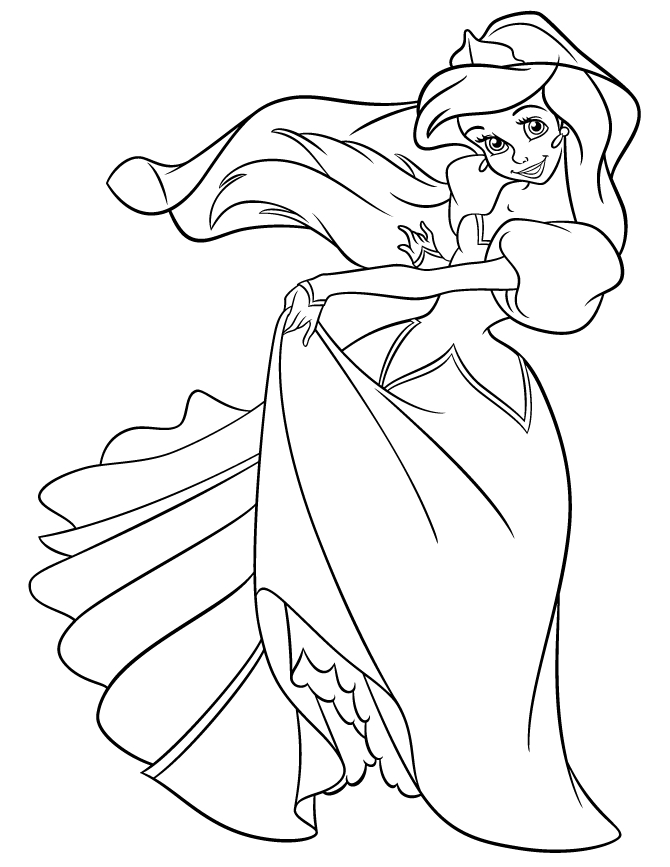 ariel coloring pages free - ariel coloring pages free