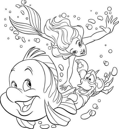ariel coloring pages free - ariel free coloring pages