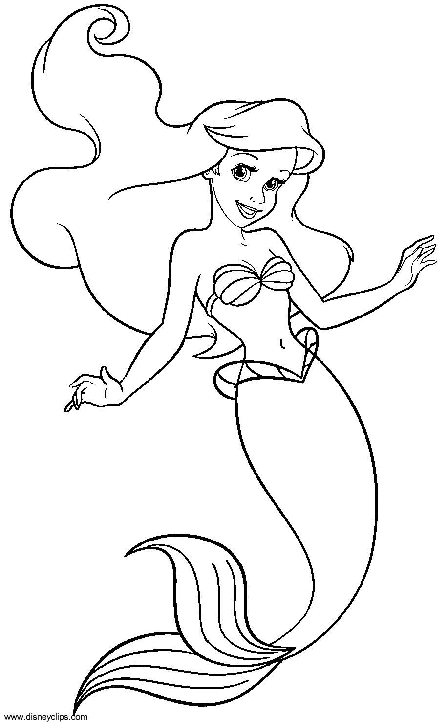 ariel coloring pages free - ariel coloring pages ariel color pages ariel s daughter melody coloring pages coloring coloring pages disney