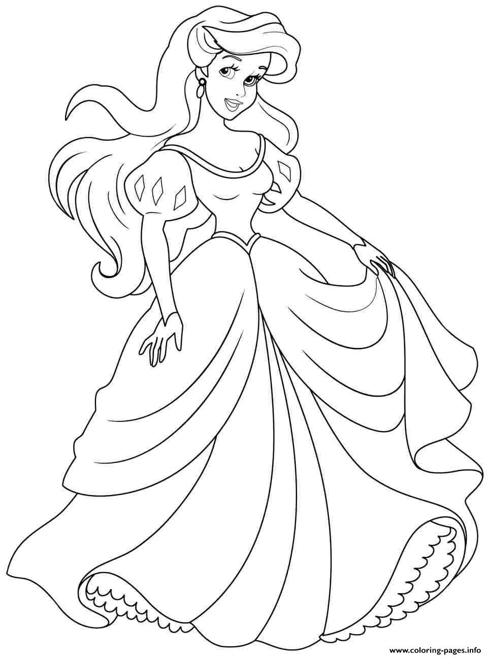 ariel coloring pages free -