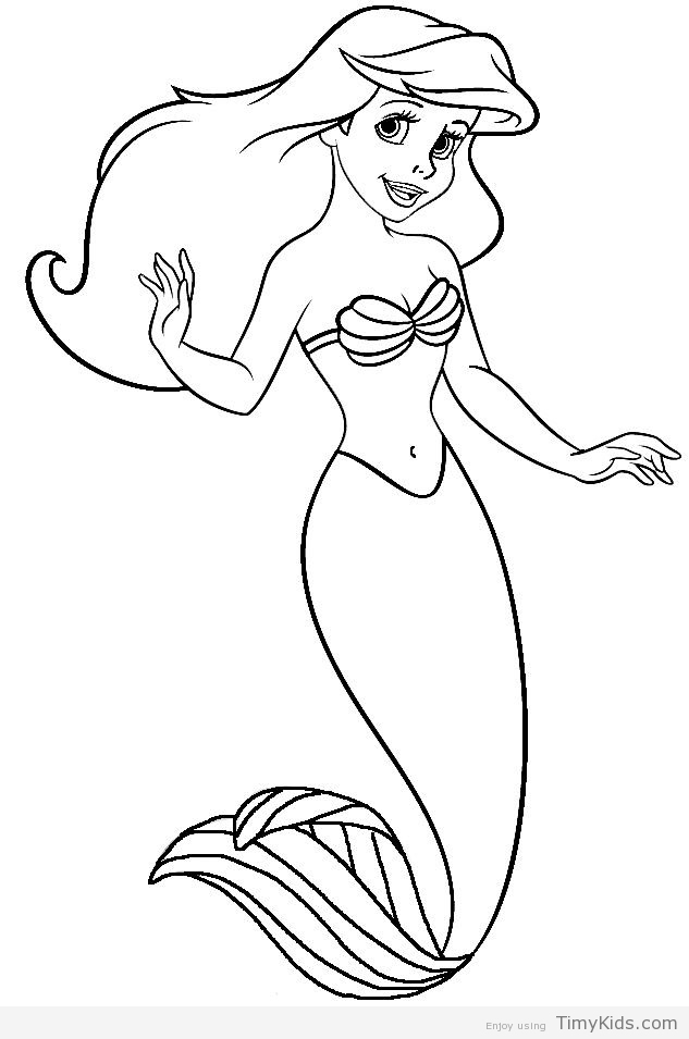 Ariel Coloring Pages Free - Size Ariel Coloring Ariel Pages Free Little