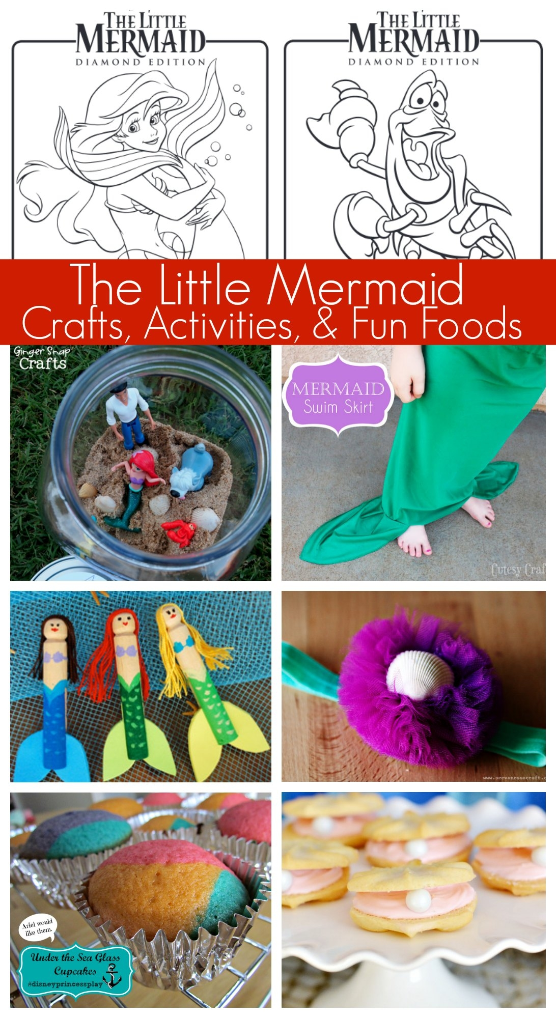 ariel mermaid coloring pages - disneys the little mermaid coloring pages activities crafts movie giveaway