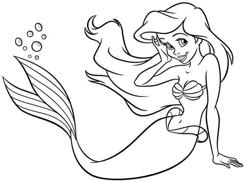 ariel printable coloring pages - ariel coloring pages