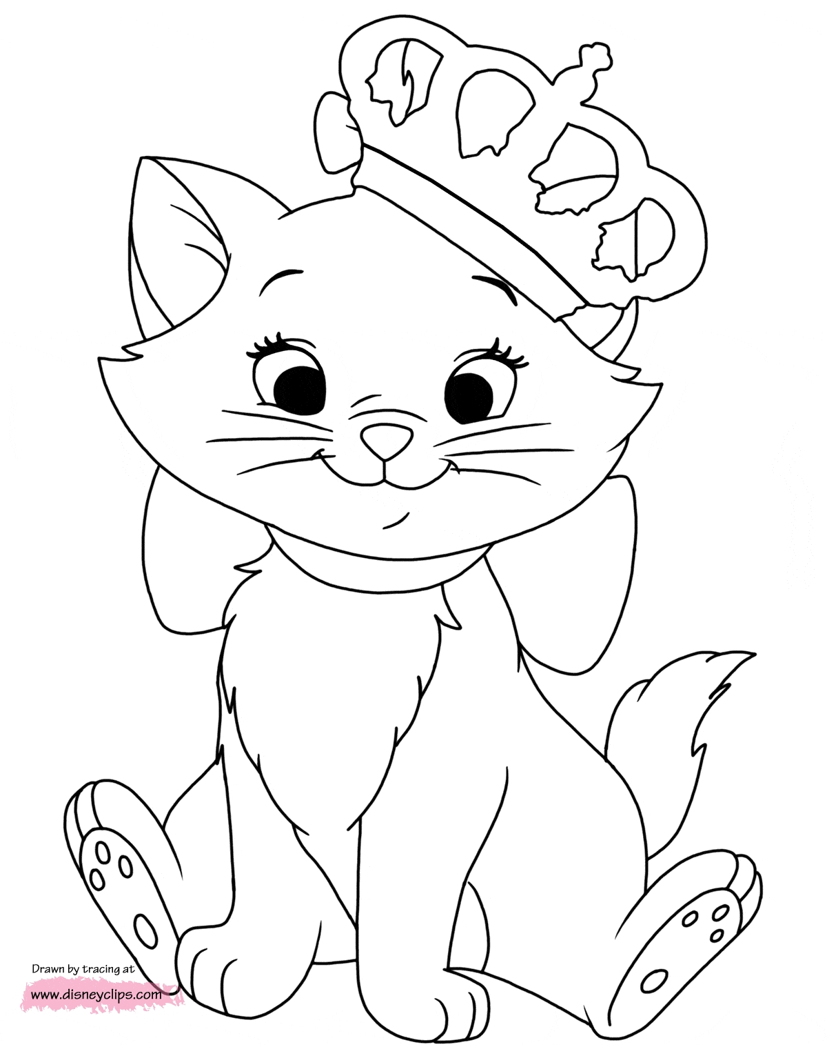 aristocats coloring pages - marie aristocats coloring pages sketch templates